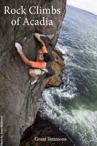 Eli Simon on Head Arete at Great Head in Acadia, Maine.